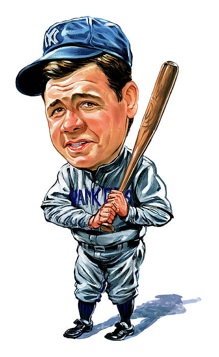 Babe Ruth Painting